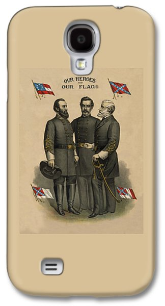 Civil War Galaxy S4 Cases - Generals Jackson Beauregard and Lee Galaxy S4 Case by War Is Hell Store