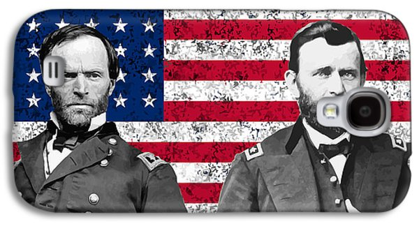 North Digital Galaxy S4 Cases - Generals Sherman and Grant  Galaxy S4 Case by War Is Hell Store