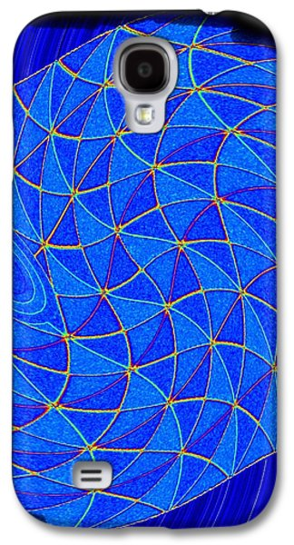 Blue Abstracts Galaxy S4 Cases - Geometric Abstract 2 Galaxy S4 Case by Will Borden