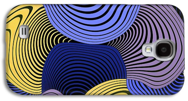 Yellow Line Galaxy S4 Cases - Geometric Gymnastic - 046ac1 Galaxy S4 Case by Variance Collections