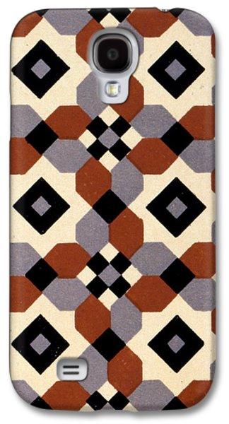 Cellphone Galaxy S4 Cases - Geometric Textile Design Galaxy S4 Case by English School