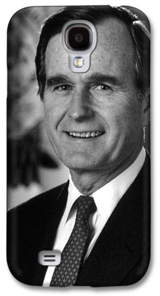 George Bush Sr Galaxy S4 Case by War Is Hell Store