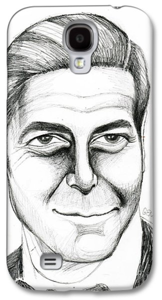 George Clooney Galaxy S4 Case by Genevieve Esson