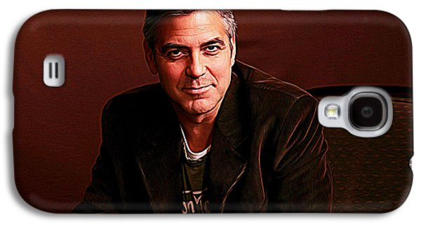 George Clooney Galaxy S4 Case by Iguanna Espinosa