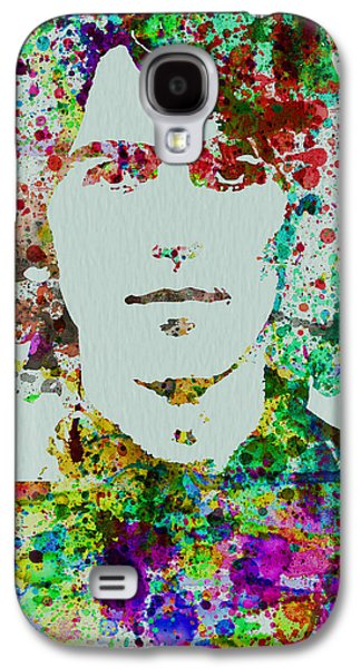 Beatles Galaxy S4 Cases - George Harrison Galaxy S4 Case by Naxart Studio
