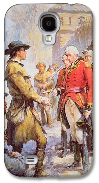 George Rogers Clark Accepts The Surrender Of British Commander Henry Hamilton At Fort Sackville Galaxy S4 Case by Newell Convers Wyeth
