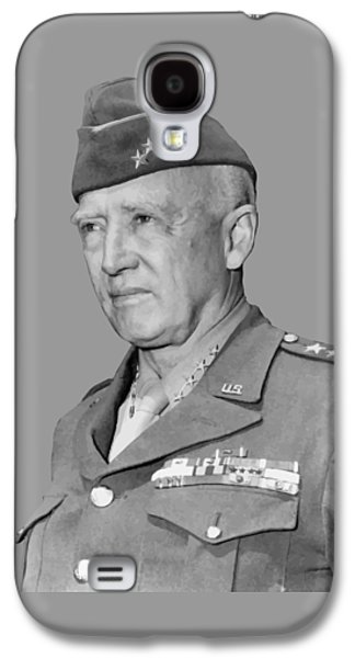 Army Digital Art Galaxy S4 Cases - George S. Patton Galaxy S4 Case by War Is Hell Store