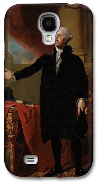 American Paintings Galaxy S4 Cases - George Washington Lansdowne Portrait Galaxy S4 Case by War Is Hell Store