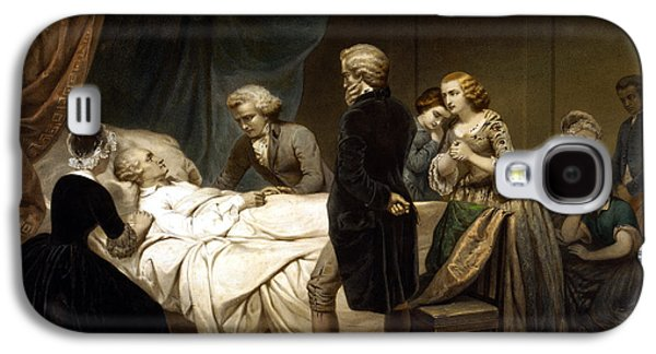 American Revolution Galaxy S4 Cases - George Washington On His Deathbed Galaxy S4 Case by War Is Hell Store