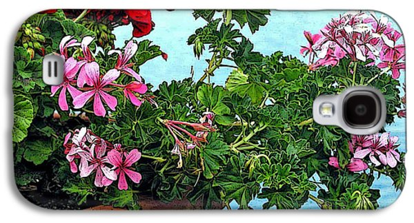 Nature Abstract Galaxy S4 Cases - Geraniums by the Sea Galaxy S4 Case by Jean Hall