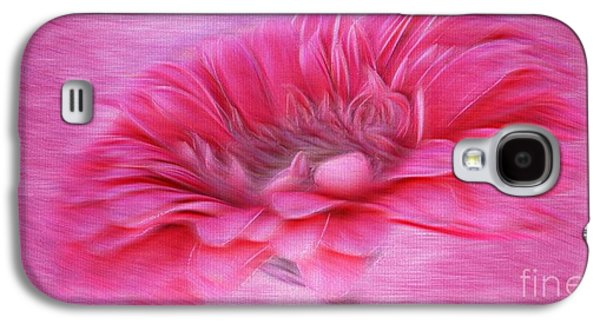 Abstract Digital Mixed Media Galaxy S4 Cases - Gerbera in the Breeze Galaxy S4 Case by Clare Bevan