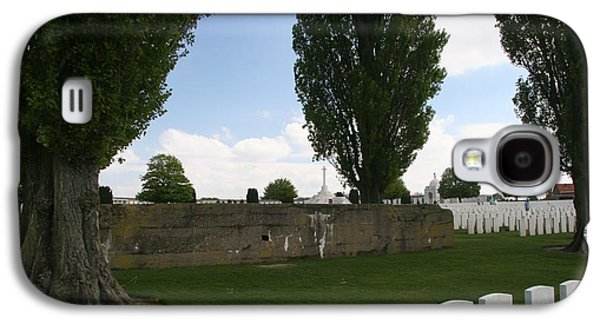 Galaxy S4 Case featuring the photograph German Bunker At Tyne Cot Cemetery by Travel Pics