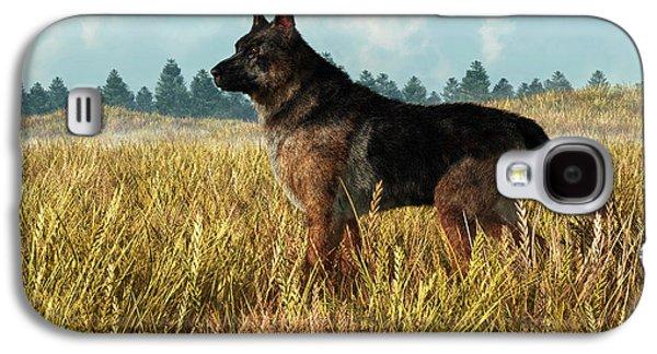Dog Rescue Digital Galaxy S4 Cases - German Shepherd Galaxy S4 Case by Daniel Eskridge