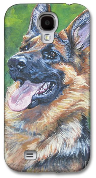 Puppies Galaxy S4 Cases - German Shepherd Head Study Galaxy S4 Case by Lee Ann Shepard
