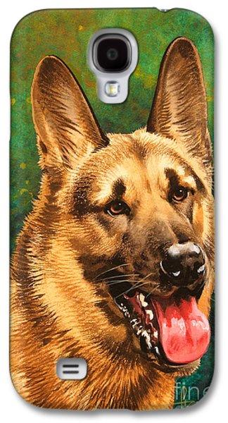 German Shepherd Galaxy S4 Cases - German Shepherd Galaxy S4 Case by John Francis