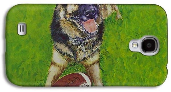 Working Dog Galaxy S4 Cases - German Shepherd Portrait Galaxy S4 Case by Enzie Shahmiri