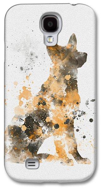 German Shepherd Galaxy S4 Cases - German Shepherd Galaxy S4 Case by Rebecca Jenkins