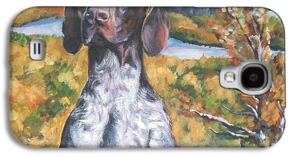 German Shorthaired Pointer Autumn Galaxy S4 Case by Lee Ann Shepard