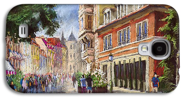 Architecture Pastels Galaxy S4 Cases - Germany Baden-Baden Lange Str Galaxy S4 Case by Yuriy  Shevchuk