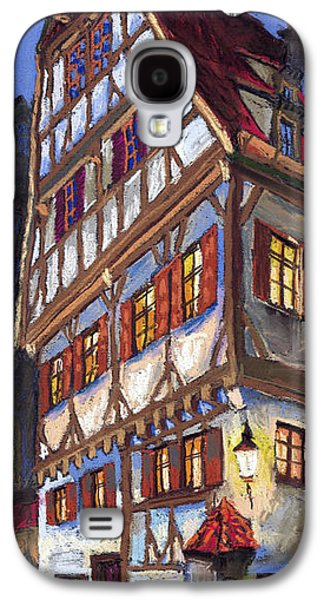 Pastels Galaxy S4 Cases - Germany Ulm Old Street Galaxy S4 Case by Yuriy  Shevchuk