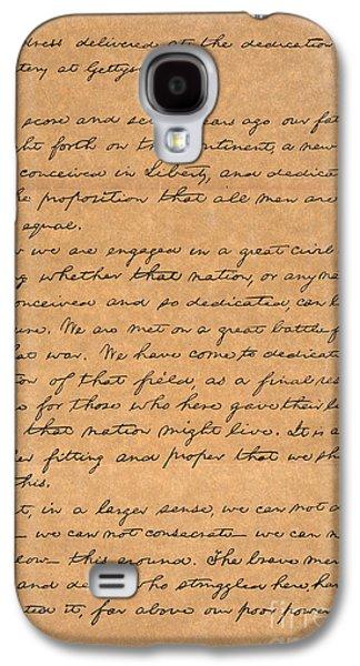 Manuscript Galaxy S4 Cases - Gettysburg Address Galaxy S4 Case by Granger
