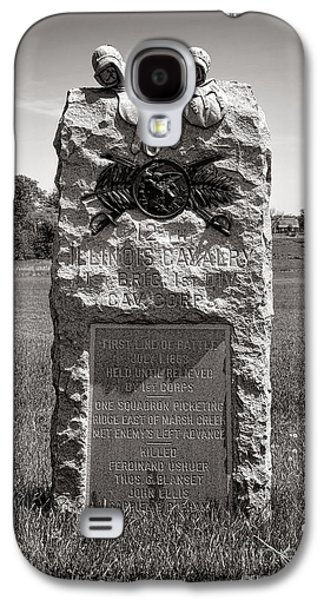Brigade Galaxy S4 Cases - Gettysburg National Park 12th Illinois Cavalry Monument Galaxy S4 Case by Olivier Le Queinec