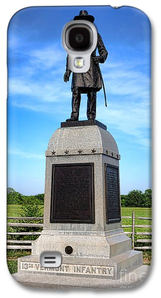 Brigade Galaxy S4 Cases - Gettysburg National Park 13th Vermont Infantry Memorial Galaxy S4 Case by Olivier Le Queinec