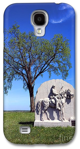 Brigade Galaxy S4 Cases - Gettysburg National Park 17th Pennsylvania Cavalry Memorial Galaxy S4 Case by Olivier Le Queinec
