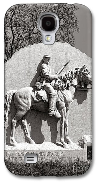 Brigade Galaxy S4 Cases - Gettysburg National Park 17th Pennsylvania Cavalry Monument Galaxy S4 Case by Olivier Le Queinec