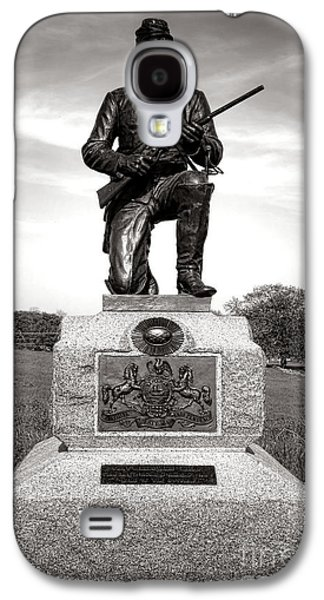 Brigade Galaxy S4 Cases - Gettysburg National Park 1st Pennsylvania Cavalry Monument Galaxy S4 Case by Olivier Le Queinec