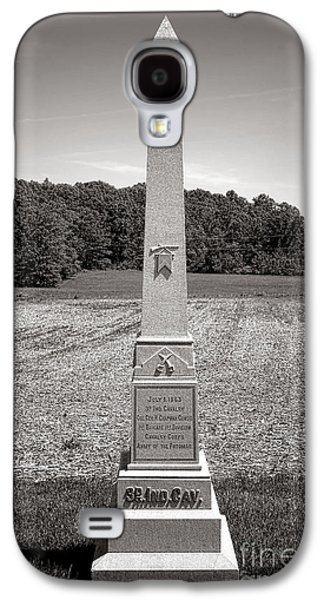 Brigade Galaxy S4 Cases - Gettysburg National Park 3rd Indiana Cavalry Monument Galaxy S4 Case by Olivier Le Queinec