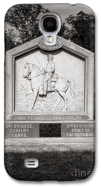 Brigade Galaxy S4 Cases - Gettysburg National Park 4th Pennsylvania Cavalry Monument Galaxy S4 Case by Olivier Le Queinec