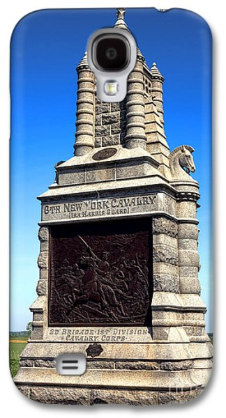Brigade Galaxy S4 Cases - Gettysburg National Park 6th New York Cavalry Memorial Galaxy S4 Case by Olivier Le Queinec