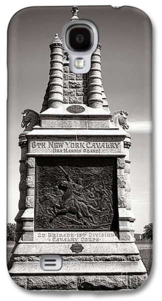 Brigade Galaxy S4 Cases - Gettysburg National Park 6th New York Cavalry Monument Galaxy S4 Case by Olivier Le Queinec
