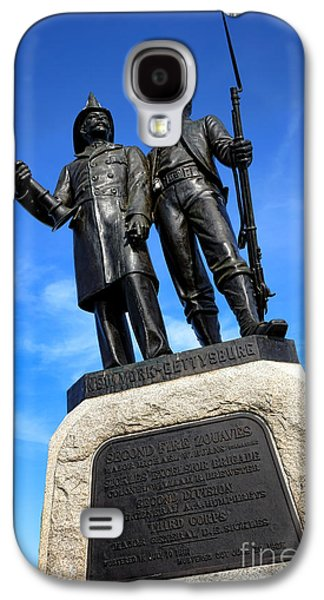 Brigade Galaxy S4 Cases - Gettysburg National Park 73rd NY Infantry Second Fire Zouaves Memorial Galaxy S4 Case by Olivier Le Queinec