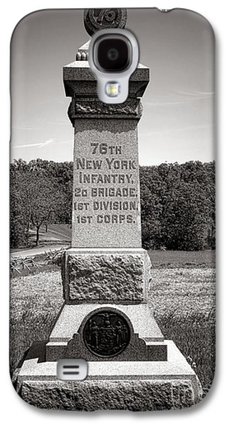 Brigade Galaxy S4 Cases - Gettysburg National Park 76th New York Infantry Monument Galaxy S4 Case by Olivier Le Queinec