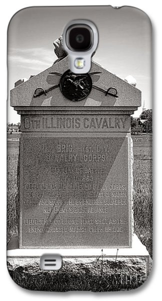 Brigade Galaxy S4 Cases - Gettysburg National Park 8th Illinois Cavalry Monument Galaxy S4 Case by Olivier Le Queinec