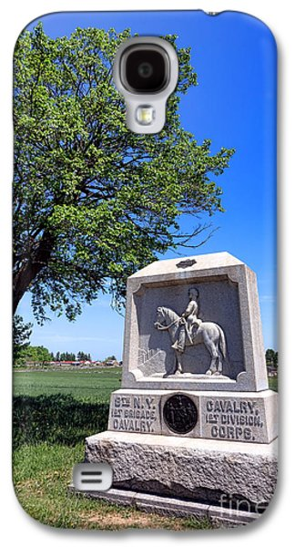 Brigade Galaxy S4 Cases - Gettysburg National Park 8th New York Cavalry Memorial Galaxy S4 Case by Olivier Le Queinec