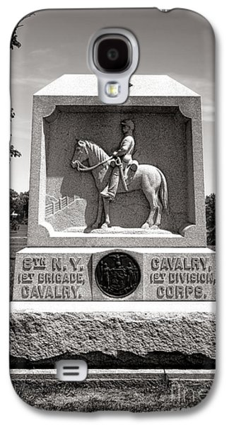 Brigade Galaxy S4 Cases - Gettysburg National Park 8th New York Cavalry Monument Galaxy S4 Case by Olivier Le Queinec