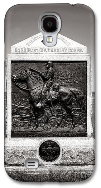 Brigade Galaxy S4 Cases - Gettysburg National Park 9th New York Cavalry Monument Galaxy S4 Case by Olivier Le Queinec