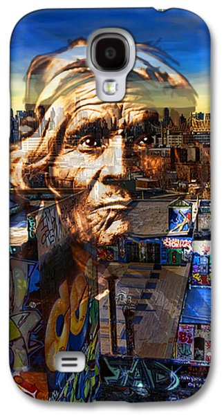 The Hills Mixed Media Galaxy S4 Cases - Ghost Tribe Native Americans in New York Sepia Galaxy S4 Case by Tony Rubino