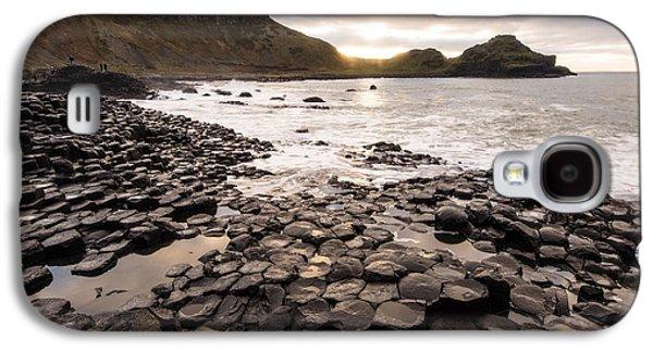 Fionn Mac Cumhaill Galaxy S4 Cases - Giants Causeway into the Sun Galaxy S4 Case by Euan Cherry