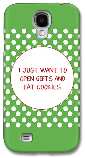 Gifts And Cookies- Art By Linda Woods Galaxy S4 Case by Linda Woods