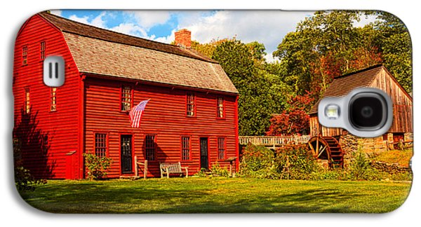 Grist Mill Paintings Galaxy S4 Cases - Gilbert Stuart Museum Galaxy S4 Case by Lourry Legarde