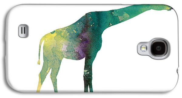 Giraffe Colorful Watercolor Painting Galaxy S4 Case by Joanna Szmerdt