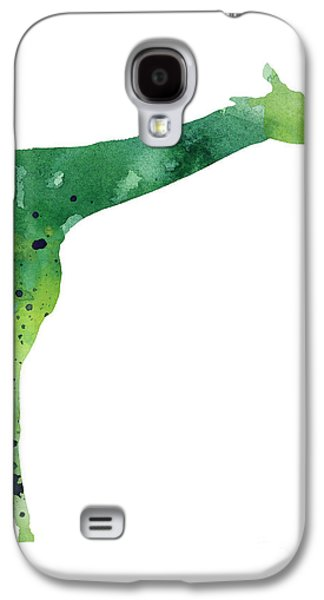 Giraffe Drawing Watercolor Art Print Galaxy S4 Case by Joanna Szmerdt