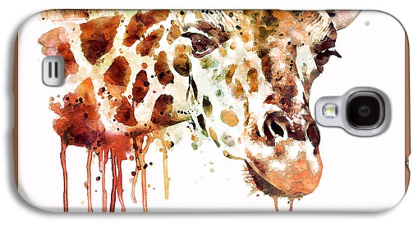 Giraffe Digital Galaxy S4 Cases - Giraffe Head Galaxy S4 Case by Marian Voicu