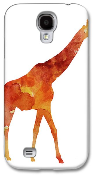 Giraffe Minimalist Painting For Sale Galaxy S4 Case by Joanna Szmerdt