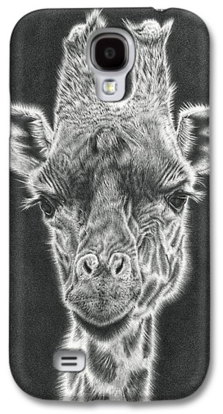 Photorealistic Galaxy S4 Cases - Giraffe Pencil Drawing Galaxy S4 Case by Heidi Vormer