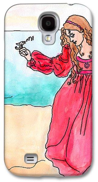 Girl And Singing Fish Galaxy S4 Case by Debbie Davidsohn